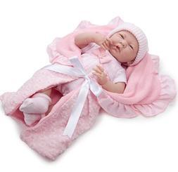 JC Toys Berenguer La Newborn Soft Body Baby Doll 7-Piece Pin
