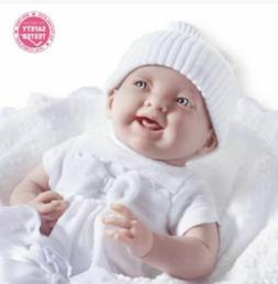 JC Toys La Newborn Soft Body Baby Doll 7-Piece Premium White