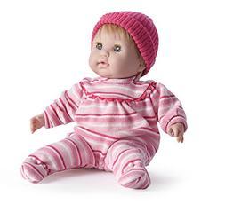 "JC Toys Nonis 15"" Blonde in Pink Stripes Vinyl Soft Body Ber"