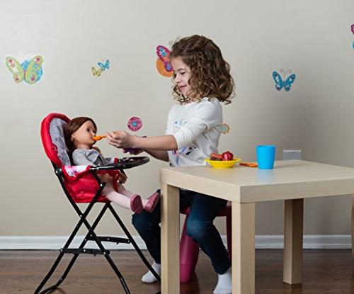 Litti Pritti Set - Includes Baby Doll Swing, Doll High Chair, Play, Baby – Doll Accessories Old