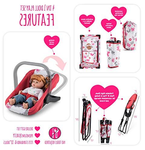 Litti Pritti Set Doll Accessories - Includes Baby Swing, Chair, Pack N Play, – inch Accessories for 3 Old