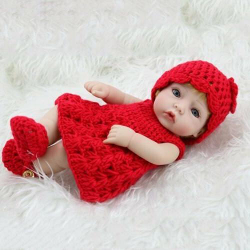"10""Reborn Dolls Newborn Full Body Silicone Girl"