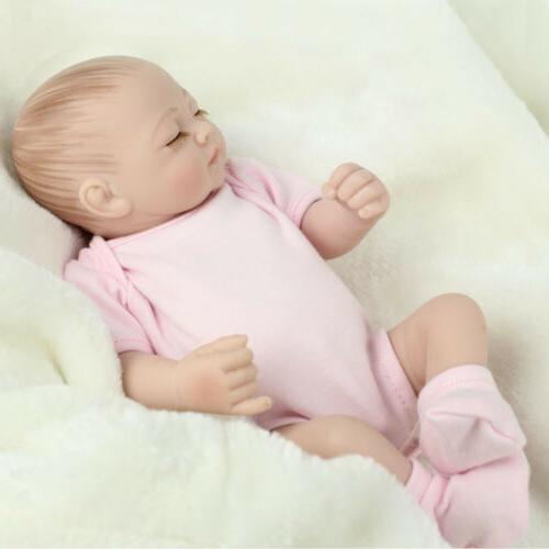 """10"""" Twins Baby Dolls Full Body Boy Doll Reborn"""