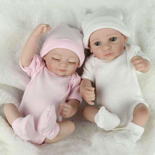 10 twins baby dolls full body vinyl
