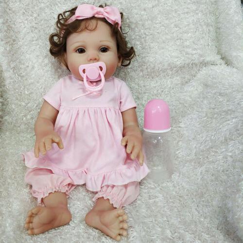 "16"" Reborn Baby Doll Full Soft Body Silicone Vinyl Anatomica"