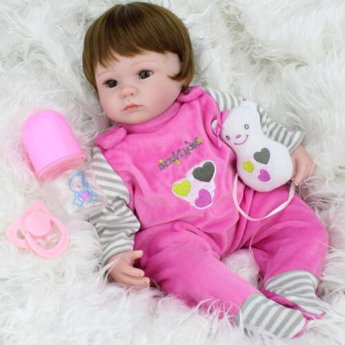 16'' Reborn Baby Dolls Handmade Vinyl