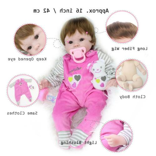 16'' Reborn Baby Handmade Vinyl Belly Doll