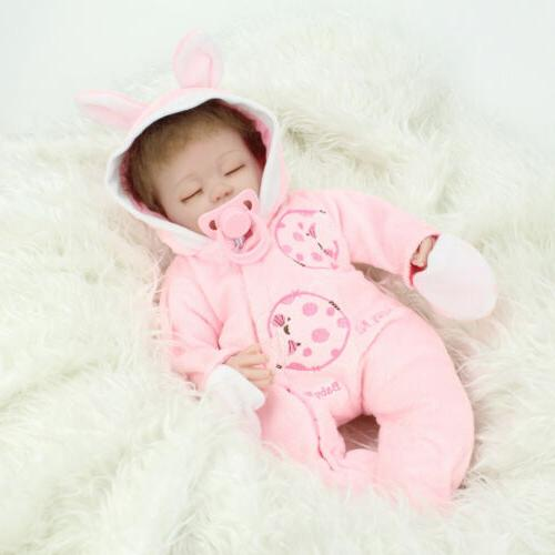 "16"" Reborn Baby Dolls Handmade Newborn Mohair Girl Doll Xmas"