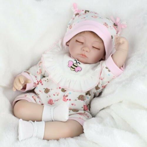 "16"" Reborn Baby Handmade Newborn Vinyl Silicone Sleeping"