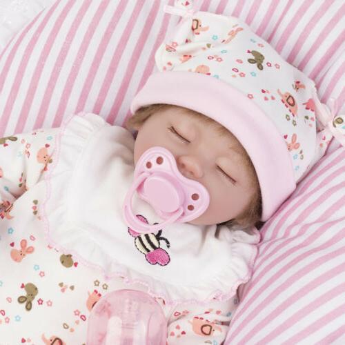 "16"" Reborn Baby Dolls Newborn Girl Real Life Toddler Doll Ha"