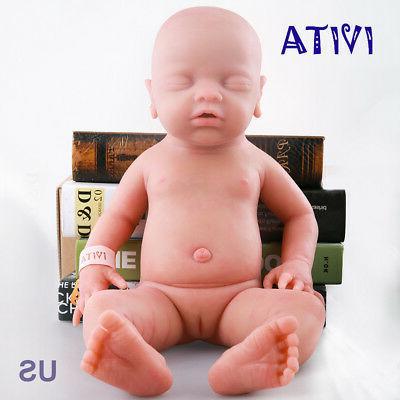 IVITA 18 inch Eyes-closed Baby Doll Girl Full Body Soft Sili