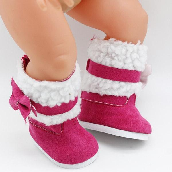 18 Snow Boots 43cm <font><b>baby</b></font> <font><b>doll</b></font> winter Chirstmas shoes