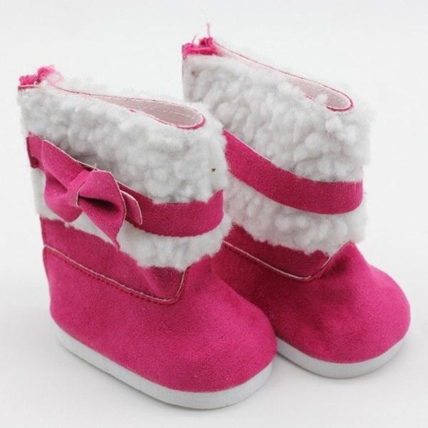 18 Girls Snow Boots 43cm <font><b>doll</b></font> <font><b>baby</b></font> <font><b>doll</b></font> winter shoes