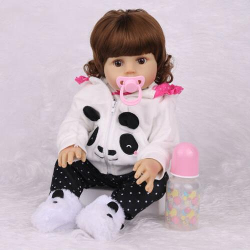 "18""Realistic Newborn Full Silicone Girl Anatomically"