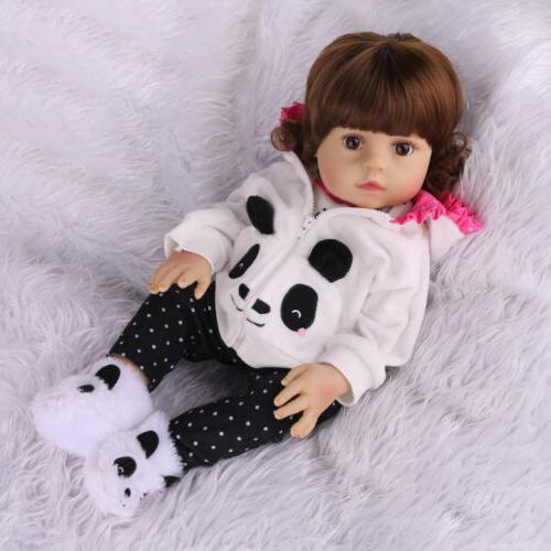 "18""Realistic Reborn Baby Doll Newborn Full Vinyl Silicone"