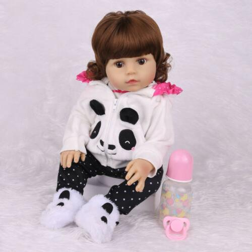 "18""Realistic Baby Doll Newborn Silicone Anatomically"