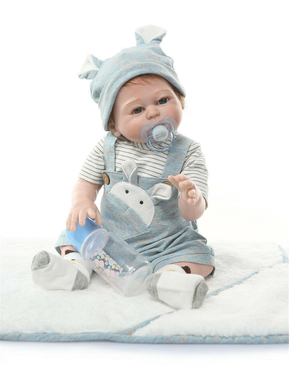 "20"" Anatomically Correct Baby Doll Boy Real Life Full Silico"