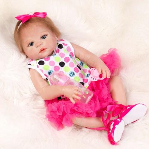 "22"" Anatomically Correct Lifelike Reborn Baby Dolls Doll Kids Gifts"
