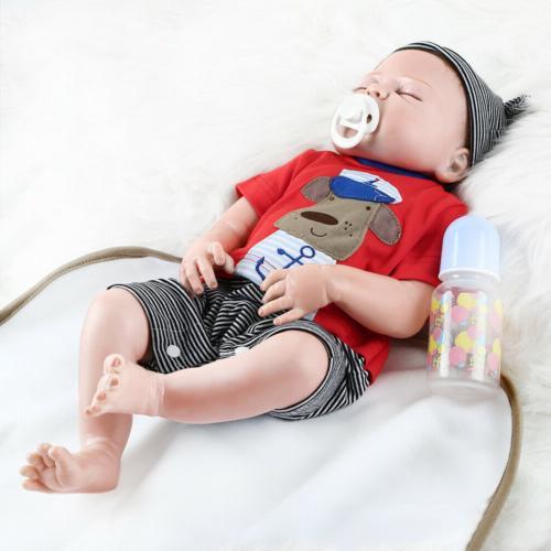 """22""""Full Body Silicone Realistic Reborn Dolls boy Newborn Doll"""