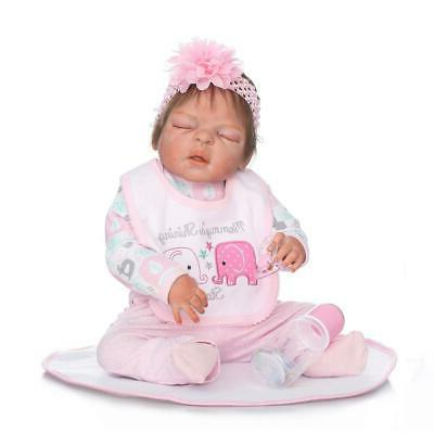 22inch Realistic Cute Lifelike Pink Toddler