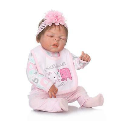22inch Reborn Realistic Cute Newborn Doll Lifelike Toddler