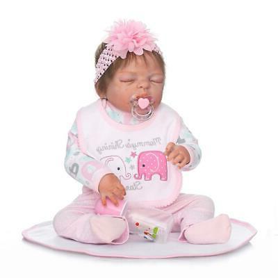 22inch reborn baby dolls realistic cute newborn