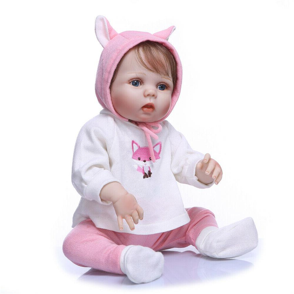 22''Realistic Girl Reborn Baby Dolls Full Body Vinyl Silicon