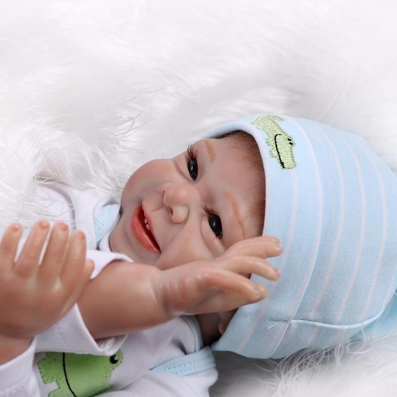 22''Handmade Lifelike Baby Boy Girl Silicone Vinyl Reborn Ne