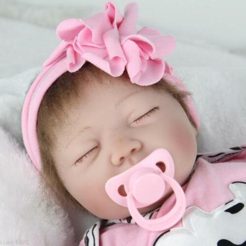 "22"" Reborn Baby Toy Newborn Vinyl Sleeping Girl"
