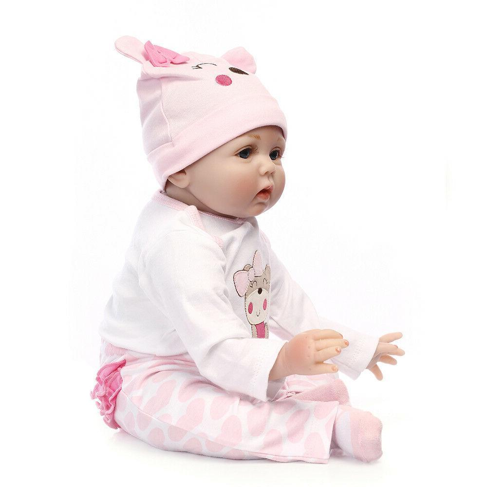 22'' Handmade Silicone Vinyl Reborn Baby Newborn Kid's Gift