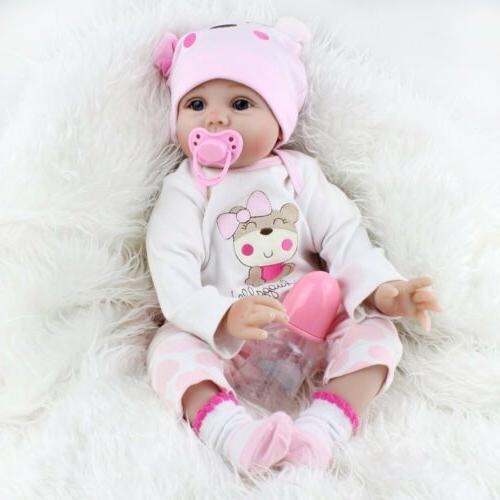 22'' Lifelike Reborn Baby Dolls Vinyl Silicone Newborn Toddl