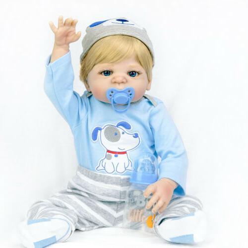 22 Lifelike Vinyl Reborn Doll Realistic Newborn Gift