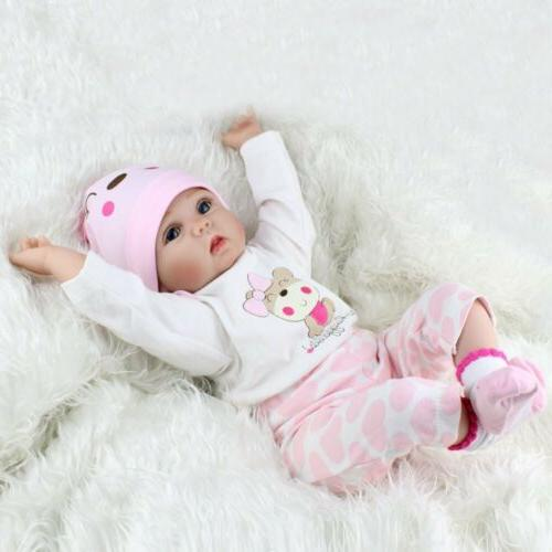Reborn Real Doll Realistic Silicone Vinyl Lifelike Gifts 16''