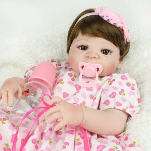 """22"""" Newborn Full Vinyl Silicone Baby Babies Toy Gifts"""