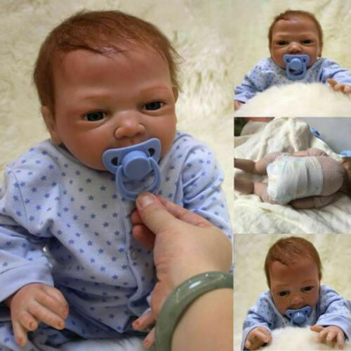 22 handmade reborn boy doll vinyl silicone
