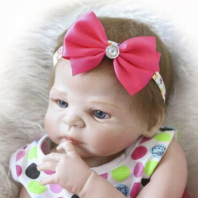"""22"""" Baby Dolls Full Silicone Girl Newborn Bath"""
