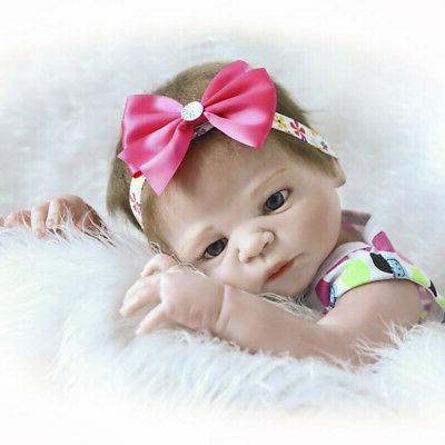 """22"""" Realistic Reborn Baby Dolls Silicone Doll Newborn Bath"""
