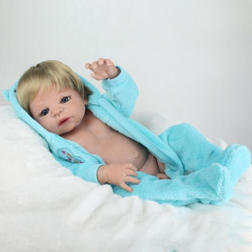 "22"" Reborn Baby Dolls Full Body Vinyl Boy Newborn Gifts"