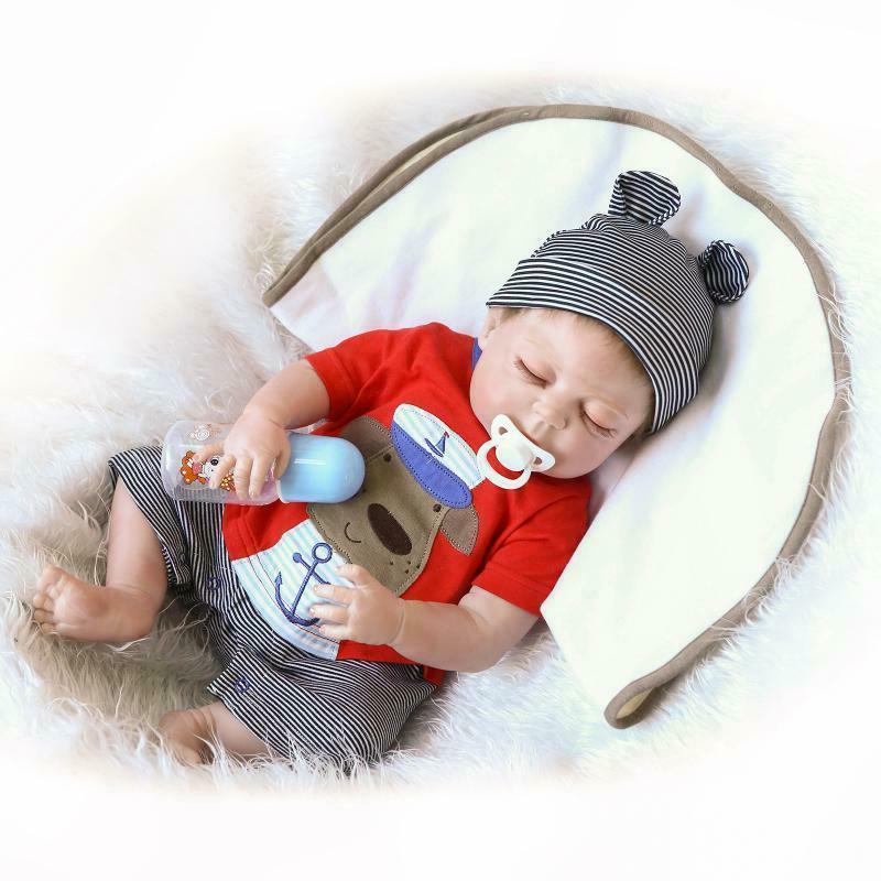 "22"" Baby Full Body Vinyl Boy Doll Newborn"
