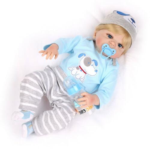 "22"" Reborn Gift Full Body Vinyl Silicone Newborn Babies Toy"