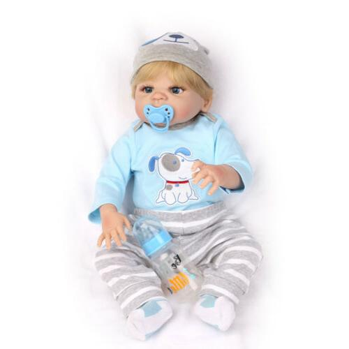 "22"" Gift Body Silicone Boy Doll Newborn Babies"