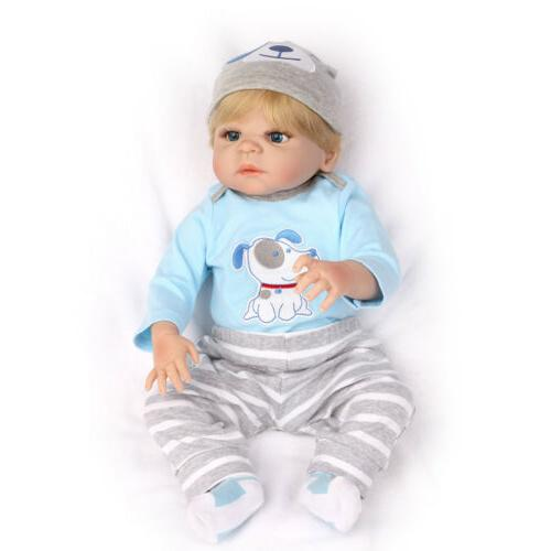 "22"" Reborn Gift Full Silicone Boy Doll Babies Toy"