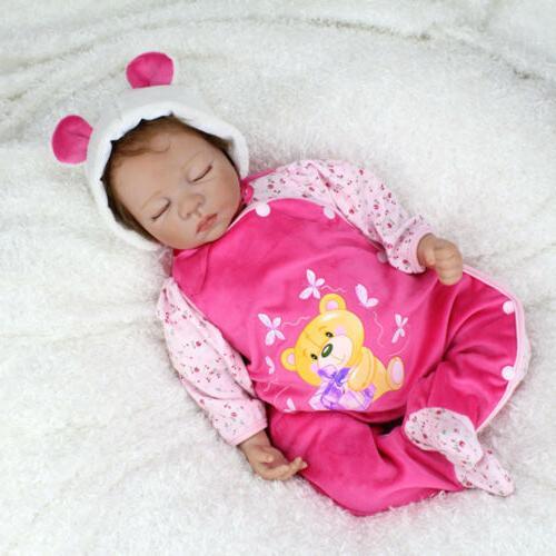 22'' Reborn Baby Handmade Lifelike Newborn Vinyl Belly Boy Doll
