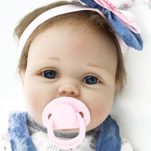 "22"" Lifelike Newborn Baby Girl US"