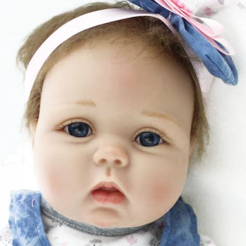 "22"" Baby Dolls Lifelike Vinyl Baby Doll Birthday US"