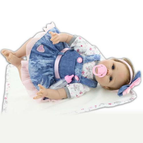 """22"""" Baby Dolls Lifelike Vinyl Silicone Baby Birthday US"""