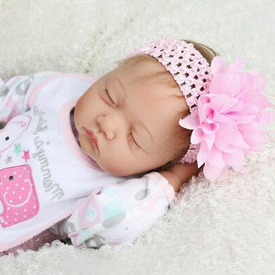 "Realistic 22"" Reborn Baby Girl Doll Lifelike Soft Silicone V"