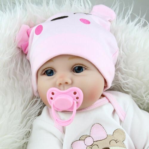 22'' Realistic Newborn Girl Silicone Vinyl Reborn Baby Dolls