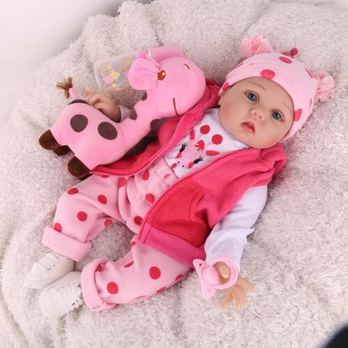 22'' Reborn Baby Dolls Handmade Vinyl Silicone Newborn Girl