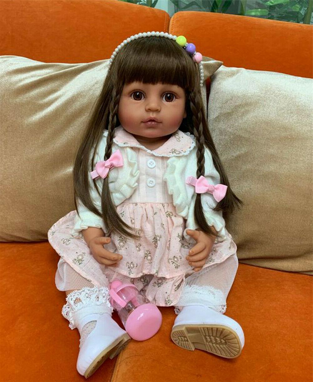 Reborn Baby Dolls Silicone Full Body Black Girls Reborn Afri